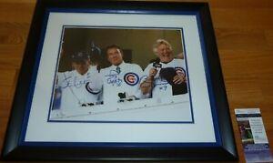 JSA BOBBY HULL-TONY ESPOSITO-STAN MIKITA SIGNED CHICAGO CUBS 11X14 PHOTO K88367