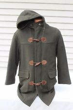 VTG LL Bean Wool Toggle Parka Men's Size SMALL Olive Green Pea Coat Made In USA