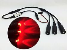 Micro Effects Light 3X red LED & control flash blink 9V prop models MELKITR-5B