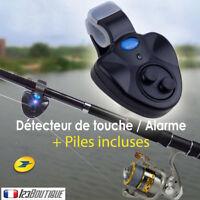 Détecteur Alarme sonore  de Morsure Touche Canne à Pêche bip son et lumière LED