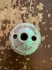 Antique Circa 1900 Arrow E Midget Porcelain Base Rosette Light Switch