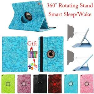 360 Rotating Stand Smart Case Cover For iPad 2 3 4 5th 6th 7th Gen Air Pro Mini