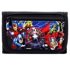 Brand New Marvel Avengers Wallet Tri Fold Kids NWT- Black