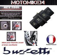 Outil multi clé axe de roue fourche CBR600RR ET CB1000RR CB1000R 17-19-22-24mm