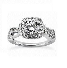 14k Yellow & White Gold Natural Cushion Diamond Engagement Ring Setting Jewelry