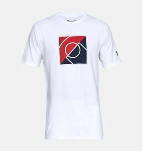 Men's Under Armour UA Top of the Key White Short Sleeve T-Shirt 1317934-100