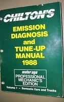 Chilton's Emission Diagnosis & Tune-up Manual 1988 Domestics Cars and Trucks