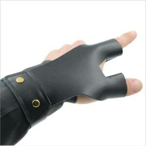 Finger Tab Guard Protector Glove Cow PU Leather Archery Shooting Hunting CH