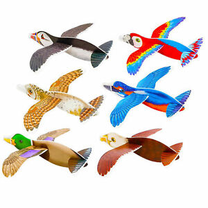 Bird Gliders (16cm) 4 Assorted Designs - Party Bag Fillers - Pack of 6