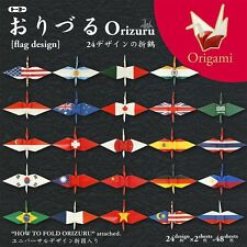 Toyo Origami for Crane with National Flag Printed 15x15cm, 24 Patterns 2 Sheets
