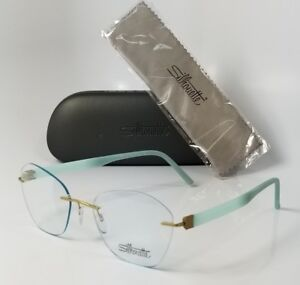 NEW SILHOUETTE 5506 DM 5545 blue rimless reading glasses computer eyeglasses