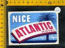 Etichetta label albergo hotel 3459 Atlantic Nice Nizza Francia