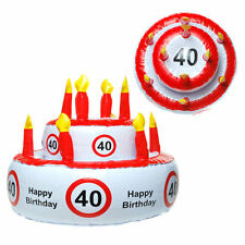 40 Happy Birthday Aufblasbare Torte Geburtstagstorte Scherzartikel Geburtstag