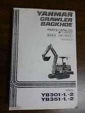 YANMAR Excavator YB301-1 & 2, YB351-1& 2  parts manual