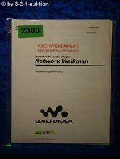 Sony Bedienungsanleitung NW E3 /E5 Network Walkman (#2303)