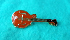 ZP103 Folk Rock Acoustic Mandolin Mandolino Lute Quality Enamel Lapel Pin Badge