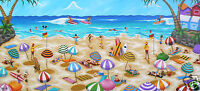 ART  BEACH LANDSCAPE PAINTING  PRINT andy baker canvas 2000s australia abstract
