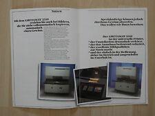 altes Prospekt GRETAMAT 3310 der Fach .- und Produktionsprinter um 1980 ( 2697