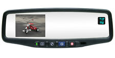 NEW! AUTODIM ONSTAR COMPASS TEMP REAR VIEW MIRROR WITH BACKUP CAMERA DISPLAY