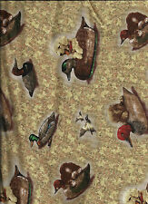 new Tan Autumn Woods Tossed Puppies and Decoys 100% cotton by the 1/2 yard