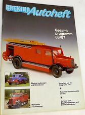 Brekina Autoheft Full Catalog German Language 86/87 # å