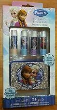 Disney Frozen Lip Balm Set and Bonus Glitter Case *NIP* Ages 3+