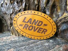 Land Rover Patch Sew On Genuine leather Cap Badge jacket 541