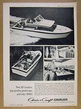 1963 Chris-Craft Cavalier 24 Fiesta Cruiser yacht boat photo vintage print Ad