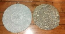 Celestial Stepping Stones Turned Into Wall Hangings great cond. moon,sun,stars!