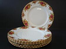 "Royal Albert Old Country Roses PIATTI da Cena 6 x 10.25"" 1ST & 62 qualità Inghilterra"