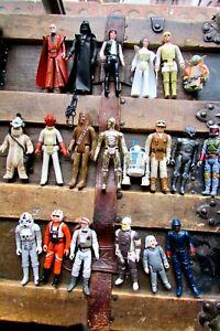 Vintage Kenner 1977-1983 Star Wars Action Figure Lot - 20 - Darth - Luke - Yoda