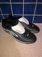 UMBRO VORTEX 11-A 5G FOOTBALL BOOTS BLACK GREY WHITE UK SIZE 10 US 11 EUR 44.5