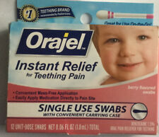 Baby Orajel Pain Relief 12 Single Use Teething EXP Collectible Check 05/20