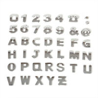 40pcs.Car 3D Alphabet Letter Number Symbol Emblem Badge Decal Stickers Steel DIY