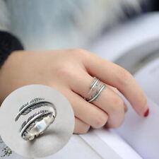 1Pc Piuma Moda anello regolabile a forma di apertura elegante gioielli decorazioni