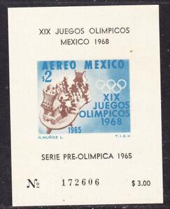 Mexico 1968 Olympics Miniature Sheet 172606 Small MNH