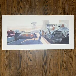 RARE Syd Mead 1960s US Steel Futurist Automotive Poster Print  Lithograph #4