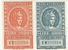 LOTTO MARCHE DA BOLLO A TASSA FISSA - LIRE 1000 e 2000 -  (1)