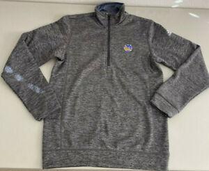 ADIDAS NBA Golden State Warriors Team Climawarm Quarter Zip Jacket Size Small
