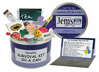 HAPPY 21st BIRTHDAY SURVIVAL KIT IN A CAN. Gift & Card For Him/Her/Men/Girls/Son