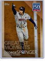 George Springer 2019 Topps Update 150 Years of Professional Baseball 5x7 #150-70
