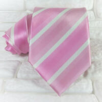 Cravatta uomo seta Regimetal Rosa e Bianco Made in Italy business / matrimoni
