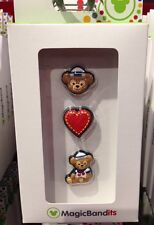 Disney Parks Duffy Mickey Mouse Bear Magic Band Bandits Set of 3 NEW Charms