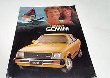 1979 HOLDEN GEMINI TE  Australian Sales Leaflet