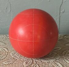 """Red 4"""" Bocce Ball 3 Pounds Replacement Circle Pattern Vintage Coleman Franklin"""