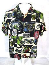 IN DESIGN BOYsWEAR XL Men S Hawaiian ALOHA shirt pit to pit 20 motorcycles rayon