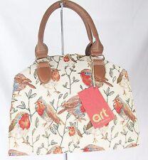 Robin Bird Design & Stylish Tapestry Handbag or Shoulder Bag Signare