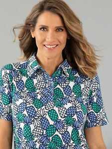 Black Pepper Womens Pineapple Polo
