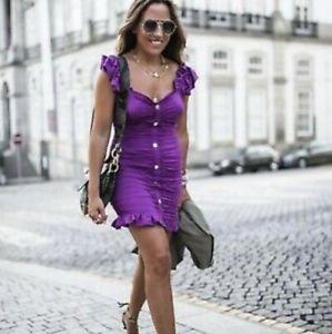 Zara Purple Mini Dress With Drapaed Detail Size XSMALL & SMALL BNWT
