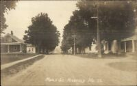 Kingfield ME Maple St. c1910 Real Photo Postcard